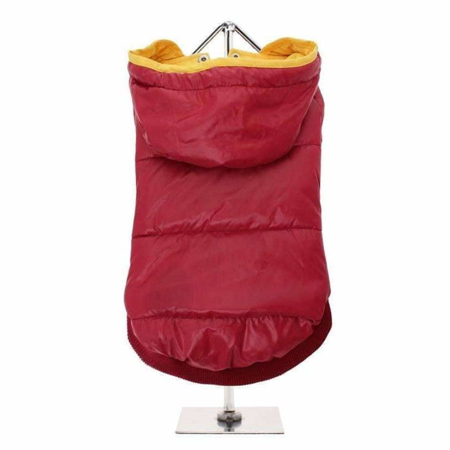 Wine Red Pathfinder Insulated Panel Dog Coat - Urban - 1
