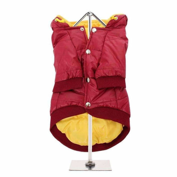 Wine Red Pathfinder Insulated Panel Dog Coat - Urban - 3