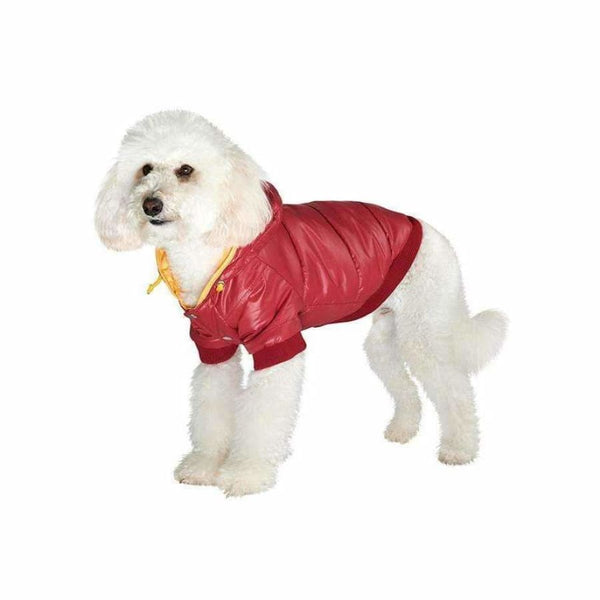 Wine Red Pathfinder Insulated Panel Dog Coat - Urban - 2