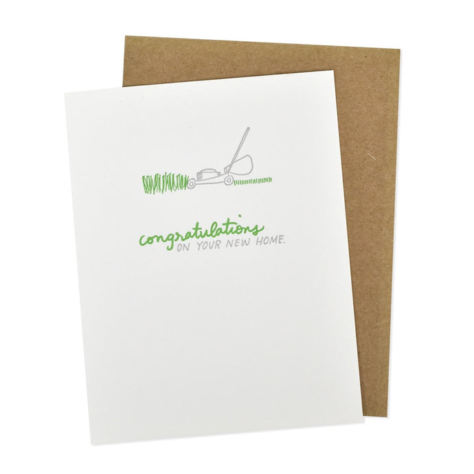 Congratulations on Your New Home Letterpress Card