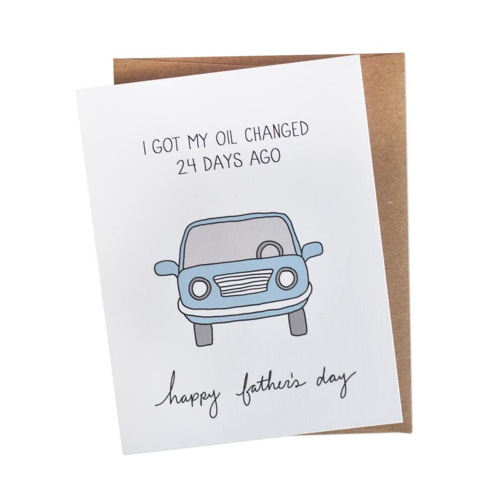 Oil Change Father's Day Card