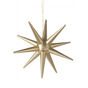 Handmade Star Burst Wood Ornament
