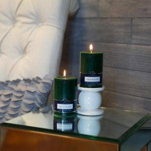 "Colonial Candle - 3"" x 4"" Pillar Candle in Evergreen"
