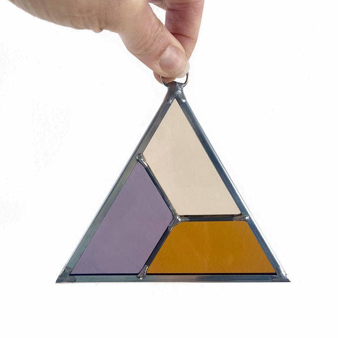 Evolve Stained Glass Triangle