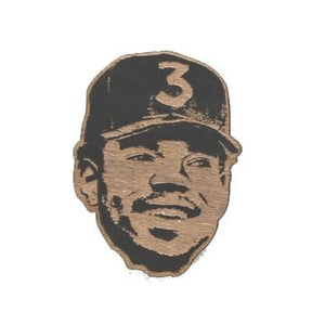 Chance the Rapper Lasercut Wood Pin