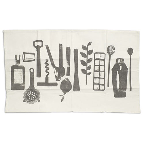 Screenprinted Bar Tools Towel