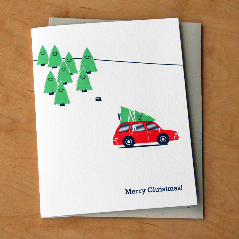Dead Tree Merry Christmas Holiday Card