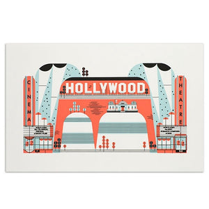 "Hollywood American Spaces 11"" x 17"" Print"