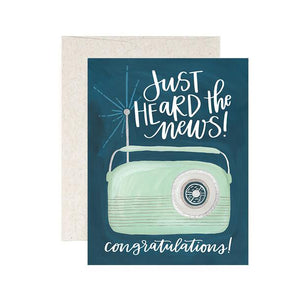 Heard the News Congrats Greeting Card