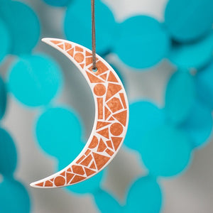 Ceramic Crescent Moon Ornament