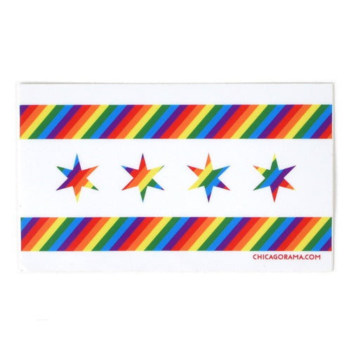 Chicago Flag Pride Sticker