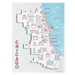 Chicago Neighborhood Landmarks Poster