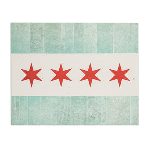 "Chicago Flag 8"" x 10"" Letterpress Print"