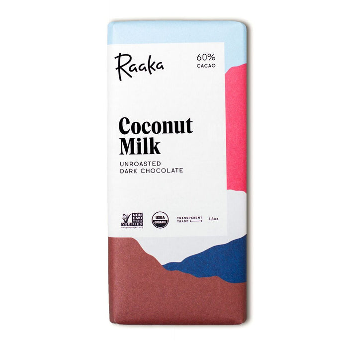 Coconut Milk Unroasted 60% Cacao Chocolate Bar