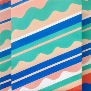 Waves Gift Wrap Sheets (Set of 3)