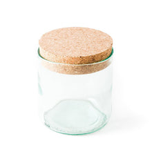 Recycled Wine Bottle Glass Canister with Cork Lid