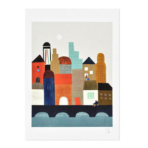 "Imaginary City 8.25"" x 11.75"" Archival Print"