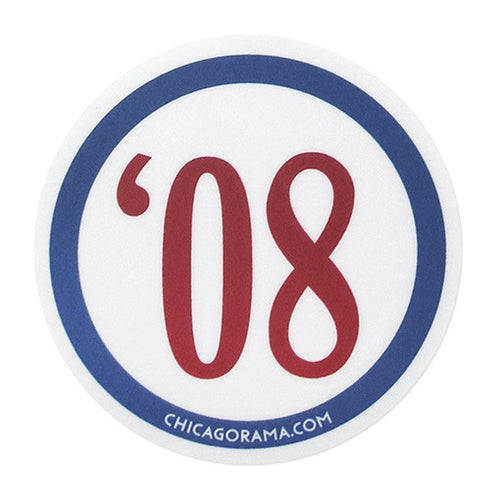 Cubs 1908 Sticker