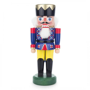 "Handmade German Wood 8.5"" Tall Nutcracker King"