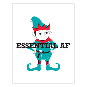 Essential AF Elf Holiday Card