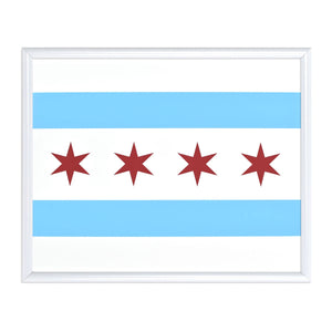 "Chicago Flag 8"" x 10"" Screen Print"