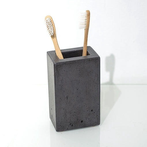 Dark Concrete Pencil or Toothbrush Holder