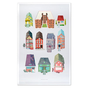 "Chicago All The Houses 24"" x 36"" Print"
