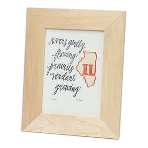Illinois letterpress print by 1canoe2