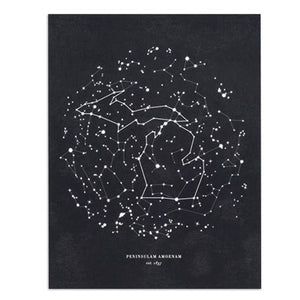 "Michigan Constellation 8.5"" x 11"" Print"