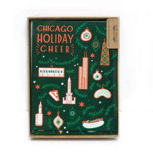 Chicago Holiday Cheer Cards (Box of 6)