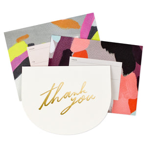 Thank You Gold Foil Script Card Box Set (6 Cards & Envelopes)