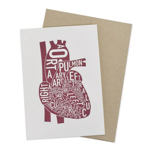 Typographic Heart Letterpress Card