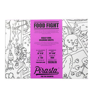 Food Fight Coloring Sheets