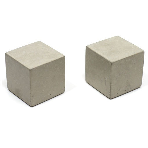 Light Concrete Square Bookends (Set of 2)
