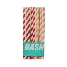 Peachy Vibes Paper Straws (Mixed Pack of 25)