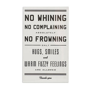 "No Whining 11"" x 17"" Letterpress Print"
