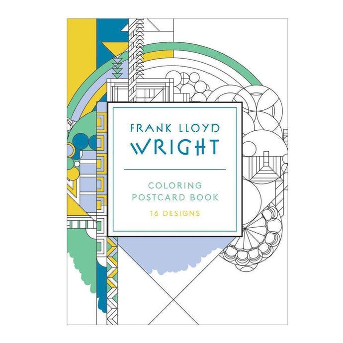 Frank Lloyd Wright Coloring Postcard Set (Set of 16)