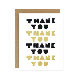 Thank You Geo Type Gratitude Card