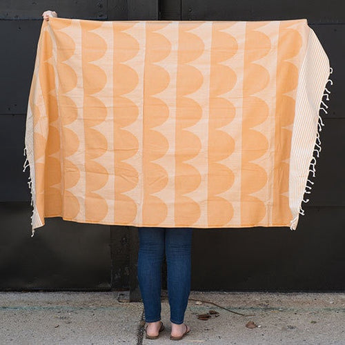Go Undercover Woven Orange Blanket