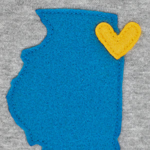 Illinois Love Bib