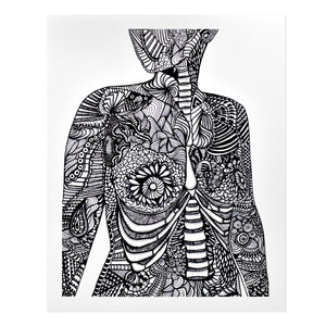 Anatomical Breasts Print