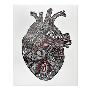 "Anatomical Heart 8"" x 10"" Print"