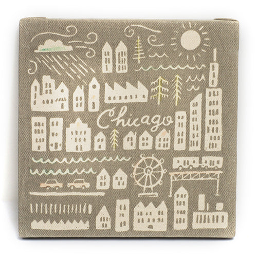Chicago Vintage City Canvas
