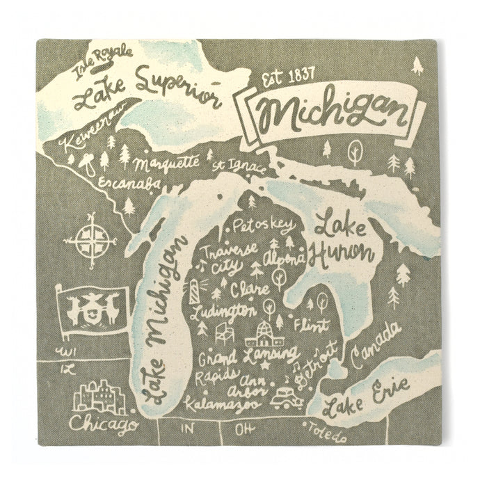 Michigan Souvenir Map 12