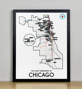 "Chicago Craft Brewery Map 11"" x 14"" Print"