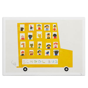 "School Bus 8.25"" x 11.75"" Archival Print"