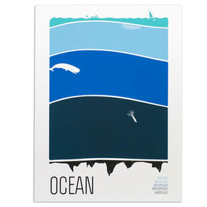 "Science Collection - Ocean 18"" x 24"" Screen Print"