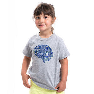 Typographic Brain Kids Tshirt