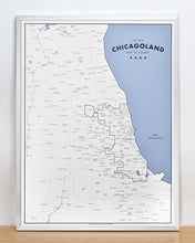 Chicagoland - a Map of Chicago and its Suburbs 18″ x 24″ Print