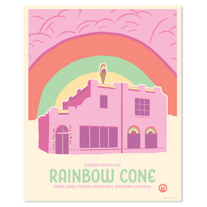 "Rainbow Cone 16"" x 20"" Chicago Tourism Print"